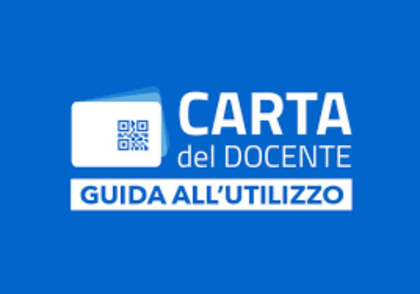 UTILIZZO CARTA DOCENTE - BONUS 500 EURO