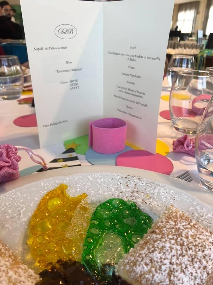 Menu del pranzo di Carnevale in Sala Vesuvio